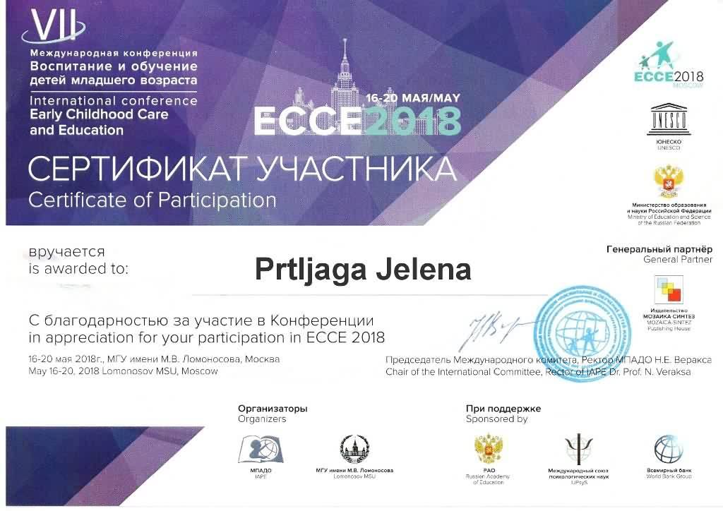 Sertifikat ECCE JP